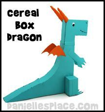 Dragon Cereal Box Craft Kids Can Make from www.daniellesplace.com