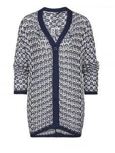 Knitted cardigan Fresh Indigo - Sandwich fashion Spring '16