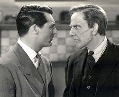 Raymond with Cary in Arsenic and Old Lace. Classic Hollywood, In Hollywood, Raymond Massey, Bogart And Bacall, Becoming An American Citizen, Cinema, Anthology Series, Cary Grant, Yesterday And Today