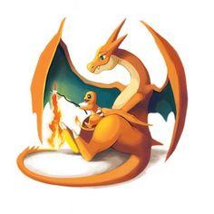 Les Pokémon et leurs bébés : Salamèche et Dracaufeu