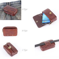 New Mens Wallet KOREA 302 Phone Case Galaxy S4 Leather Belt Pouch Pocket Purse