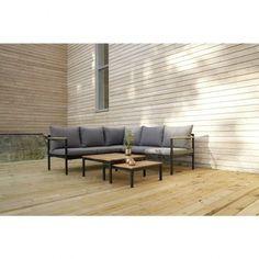 SENSUM VERA - kerti bútorgarnitúra (4 részes) - Kerti garnitúra - Kerti bútor - Kert-Szabadidő Outdoor Sectional, Sectional Sofa, Bauhaus, Outdoor Furniture Sets, Outdoor Decor, Aluminium, Modern, House Ideas, Home Decor