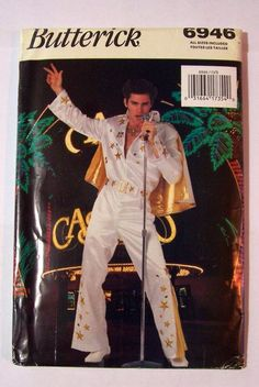 US $39.99 New in Crafts, Sewing & Fabric, Sewing Elvis Costume, Sewing Patterns, Sewing Ideas, Bell Bottoms, Jumpsuit, Fabric Sewing, Costumes, Men, Image