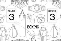 Boxing set pattern. Patterns. $5.00