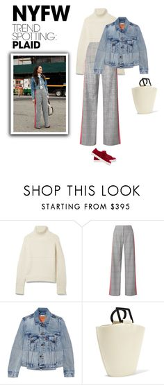 """""""Win It! NYFW Trend Spotting: Plaid"""" by bliznec-anna ❤ liked on Polyvore featuring Burberry, Monse, Vetements, Solid & Striped, Fendi, contestentry and NYFWPlaid"""