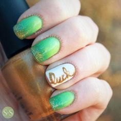 simple luck irish st patrick nails bmodish