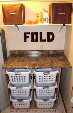 Still love this basket system. The leaning towers of laundry do not make this mom happy!