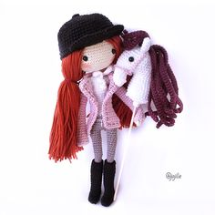 Jockey girl & EE Unicorn Hobby Horse Great works done by pattern tester @jojilie . Thank you so much for the pattern testing.