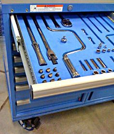 Foam FOD drawer interiors. Protect and account for vital tools on the flight line.