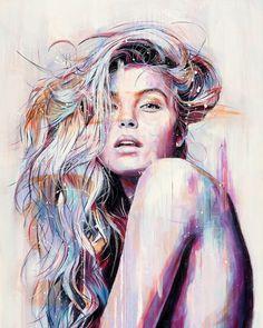 'Sound and Colour' by @davidreesartist many more wonderful works to be found on his page #print #painting #artofinstagram #createeveryday #instaart #artstagram #artistoninstagram #beautifulwomen #portrait #portraitpainting #artsanity #artattack #artoftheday #artistsofinstagram #artcollective #createart #createdaily #artescape #unknown #embracetheunknown #theunknownemporium