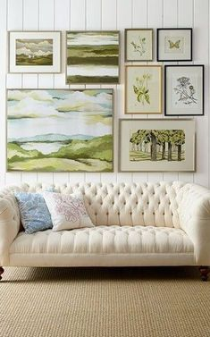 This tufted sofa is beautiful. If you are thinking of a neutral sofa this adds great texture and style. Old Hickory Tannery Ellsworth Neutral Tufted Sofa. Old Hickory Tannery, Cosy Home, Diy Home Decor Rustic, Tufted Sofa, Sofa Sofa, Chesterfield Sofa, Sectional Sofas, Couches, Shabby Chic Decorating