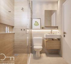 Agora o banheiro que todo mundo amou do outro post. Pequeno e charmoso, usamos madeira + concreto a combinação perfeita! Quem concorda?… Bathroom Goals, Bathroom Spa, Downstairs Bathroom, Bathroom Faucets, Small Bathroom, White Bathroom, Home Interior, Bathroom Interior, Toilet Closet