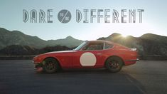 """Dare to Be Different in a Datsun 240Z - Owner Dave Scholz, shares his connection with a Japanese cult classic that could easily be regarded as the 911 of Japan. Its iconic beauty, modular mechanics, and desirability inspired Dave to heed to Datsun's famous racing campaign of the '70s, """"Dare to be different."""""""