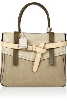Reed Krakoff | Boxer 1 leather and linen tote |