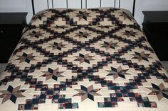 Irish Chain Star Americana Amish Quilt - I LOVE quilts that you tuck the pillows like a bedspread!