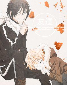 Noragami: Yato + Yukine.