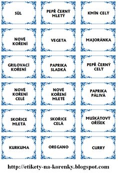 Spice jar labels and templates to print free Spice Jar Labels, Canning Labels, Pantry Labels, Spice Jars, Kitchen Labels, Printable Recipe Cards, Templates Printable Free, Printable Labels, Free Printables