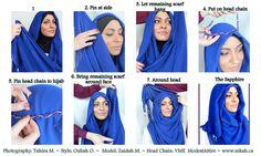 The bridal hijab (The Sapphire) from www.nikah.ca
