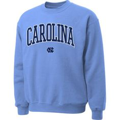 North Carolina Tar Heels (UNC) Carolina Blue Twill Arch Crewneck Sweatshirt