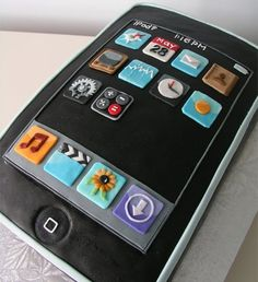 iPhone Cake : miam and lol ! Birthday Cakes For Men, Cakes For Boys, Men Birthday, Boy Cakes, 16th Birthday, Happy Birthday, Cake Birthday, Birthday Wishes, Crazy Cakes