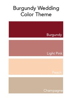 Wedding Color Palette Silver Cream Champagne Burgundy