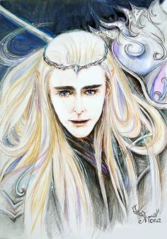 "Painting ""Thranduil"" by Mona Zhang."