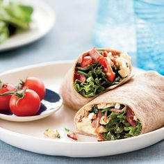 Healthy Breakfast options, like this Breakfast Burrito, from Food & Wine Magazine.
