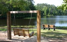 The Boathouse: a new definition to lakefront living! Pond Landscaping, Ponds Backyard, Backyard Swings, Outdoor Spaces, Outdoor Living, Farm Pond, Garden Pond, Dock House, Lake Dock