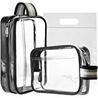 4baf5a60d26c MOCOCITO Clear Toiletry Bag with Airport Security Liquid Bag (20cm x ...