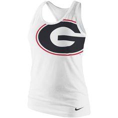 Nike Georgia Bulldogs Ladies Logo Tri-Blend Racerback Tank Top - White