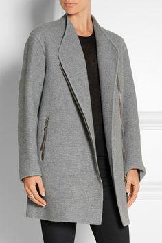 Burberry Prorsum | Manteau en cachemire à finitions en daim | NET-A-PORTER.COM
