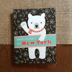 Polar New York Folded Holiday Cards, Box of 10 - New York Christmas Cards…