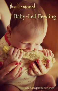 "Baby-led feeding -- a nice balanced view of BLW, although her choice to not use the word ""weaning"" is funny because teaching baby to eat solid food is part of the weaning process even if you don't plan to give up nursing anytime soon :)"