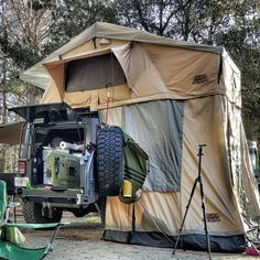 The Tuff Stuff rooftop tent is designed to provide the ultimate comfort, ease and convenience when traveling to the most secluded camping locations. The Rooftop Tent can unfold in minutes with little to no effort, and takes no tools to setup.