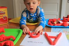 Tot School with Bo {Letter Aa}- This lady has AMAZING ideas for teaching the alphabet to preschoolers. Her kid is only 18 months old!