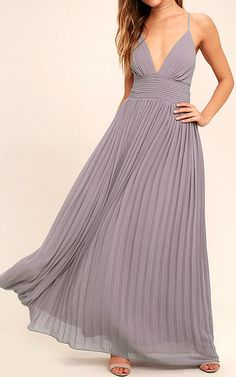 Our love for the Depths of My Love Light Purple Maxi Dress is deeper than the deep blue sea! Chiffon shapes an elegant maxi dress with a pintucked waistline and pleated maxi skirt. Backless Bridesmaid Dress, Dusty Blue Bridesmaid Dresses, Bridesmaids, Purple Maxi, Purple Gowns, Light Purple Dresses, Blue Gown, Pretty Dresses, Beautiful Dresses