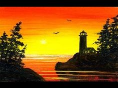 #189 / Easy Little Lighthouse 2 (2x3) / Small Oil Painting Sketch - YouTube