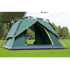 Easy Setup Instant Quick Pitch Family Camping 4-Person 3-Season Waterproof Dome Tent