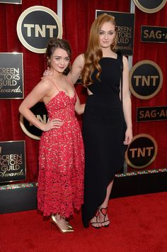 Maisie Williams and Sophie Turner | All The Red Carpet Looks From The 2015 Screen Actors Guild Awards