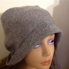 A personal favorite from my Etsy shop https://www.etsy.com/listing/255757039/unisex-gray-cashmere-hat-felted-cashmere