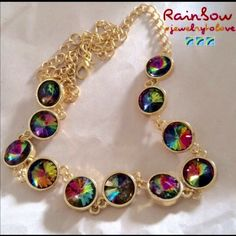 Gold Tone Rainbow Necklace Gold Tone Rainbow Necklace.  When unclasped, necklace is approx. 24 inches in length. 💜💜💜All Prices Are Firm Unless Bundled 🌸 I Offer 30% Off All Bundles💜💜💜 Jewelry Necklaces