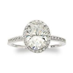 I've always wanted an oval diamond....this may be an affordable alternative!    3.30 ct. t.w. CZ Ring In 14kt White Gold