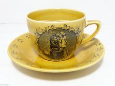 Vintage Royal Crownford Ironton England Commodore Bainbridge Coffee Mug & Saucer