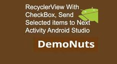 Android Recyclerview with checkbox example