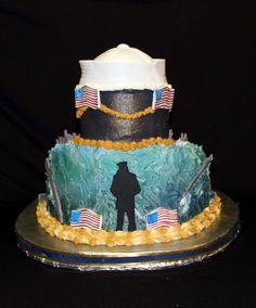 Back of U.S. Navy cake