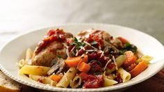 Slow Cooker Rustic Italian Chicken--I use chicken breasts not thighs. Yum!