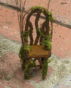 ~ Woodland Collection~~ Mossy Fairy Chair~     In a mossy woodland garden, under…