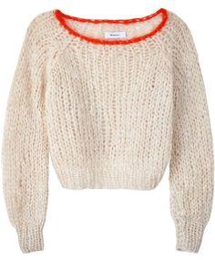 Maiami Beige w/ Orange Mohair Sweater