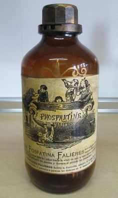 Botella de farmacia Fosfatina Falieres
