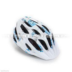Kask rowerowy dla dziecka Alpina FB Junior 2.0 White-Cyan-Silver Bicycle Helmet, Silver, Cycling Helmet, Money